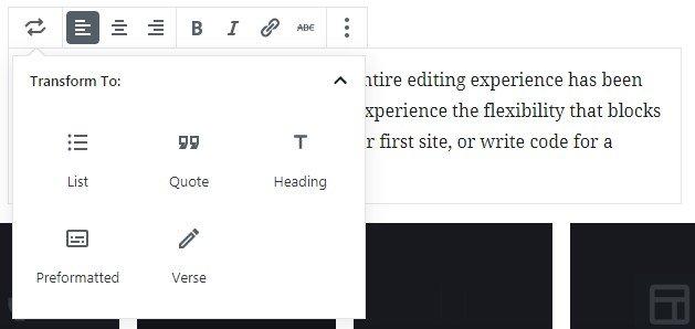 gutenberg-editor-content-area-transform-block